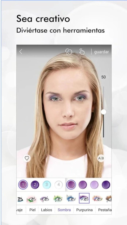 La app permite añadir una capa de maquillaje virtual (Perfect 365)