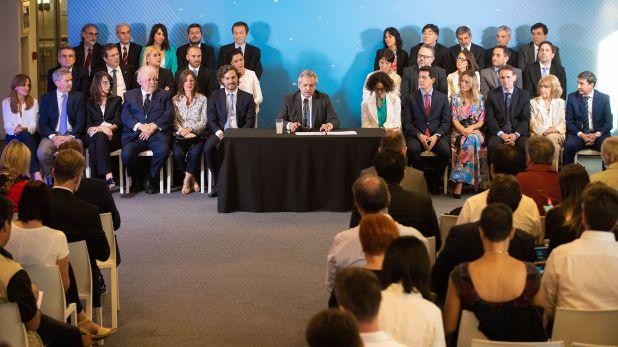 La presentación del gabinete de Alberto Fernández (Franco Fafasuli)