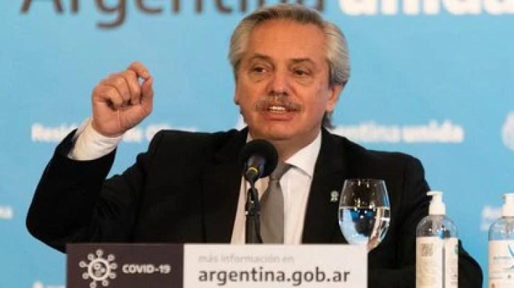 El presidente Alberto Fernández anunció varios millones de dosis que llegarán al país en diciembre (Foto: Franco Fafasuli)
