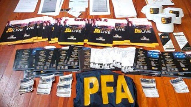 Allanamiento: parte de lo que encontró la PFA.
