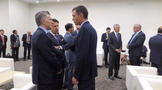 Con Pedro Sánchez. (Presidencia)