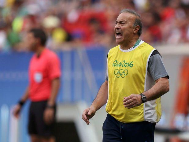 Julio Olarticoechea fue el técnico de la selección en los Juegos Olímpicos de Río 2016 (Reuters)