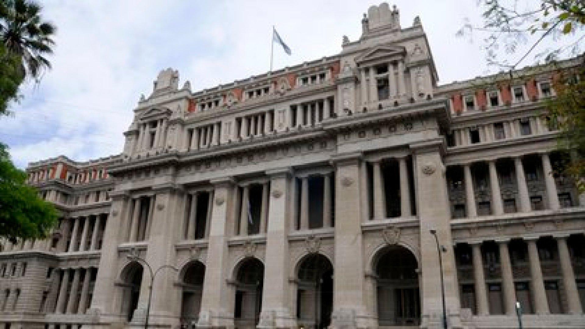El Palacio de Tribunales (Foto NA: Hugo Villalobos)