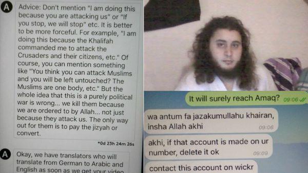 El periodista alemán mantuvo un diálogo nutrido con varios instructores, incluyendo uno que podría ser un reconocido yihadista austríaco