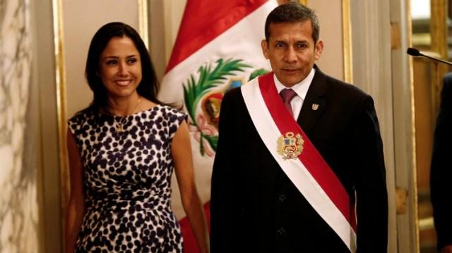 Ollanta Humala junto a su esposa