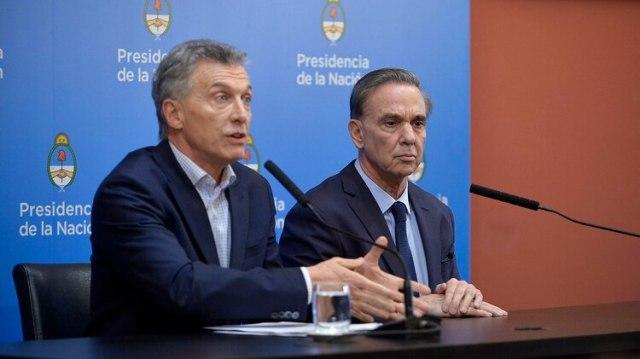 Macri y Pichetto en la conferencia de prensa del lunes por la tarde (Gustavo Gavotti)