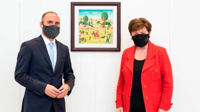 Martín Guzmán y Kristalina Georgieva. Postal de la negociación con el FMI
