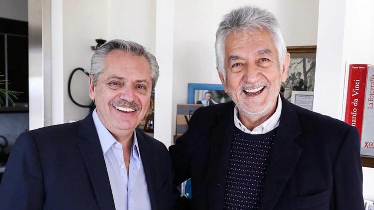 Alberto Fernández recibió a Alberto Rodríguez Saá en el departamento de Puerto Madero