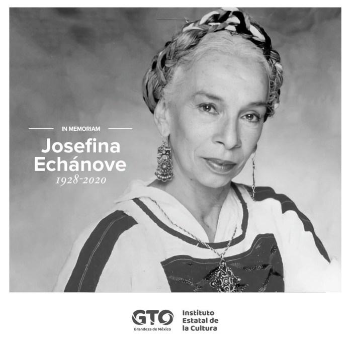 El Instituto Estatal de Cultura de Guanajuato lamentó el fallecimiento de Josefina Echánove (Foto: Twitter@IECGuanajuato)