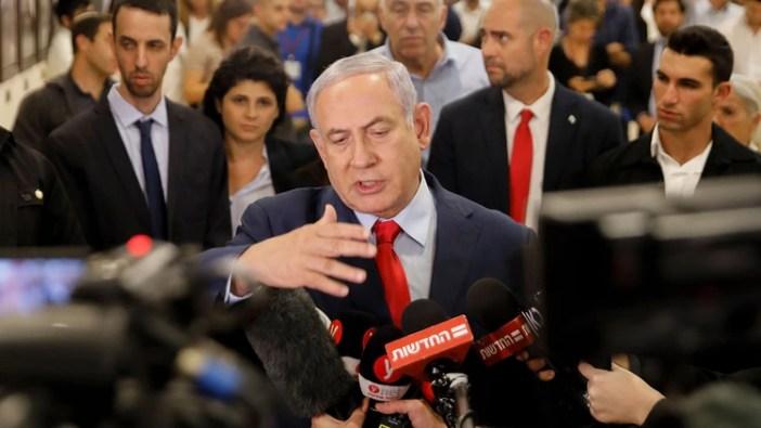 Benjamin Netanyahu habla con la prensaen Jerusalén(Menahem KAHANA / AFP)