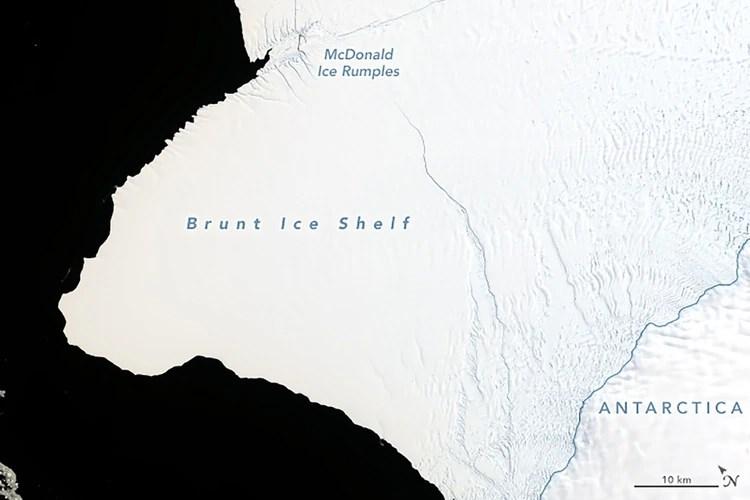 Imagen del Operational Land Imager (OLI) en Landsat 8, el 23 de enero de 2019.