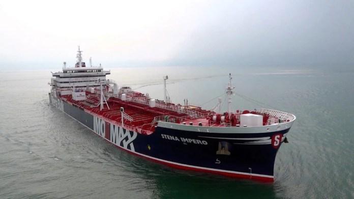 El carguero británico Stena Impero