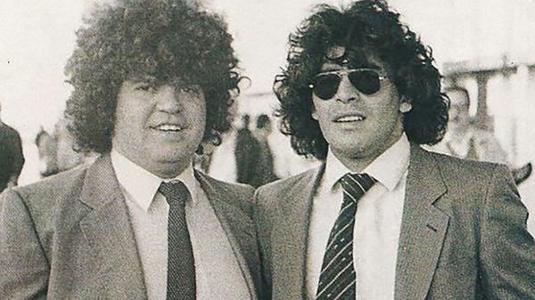 Jorge Cyterszpiler, junto a Diego Maradona (Gentileza As)