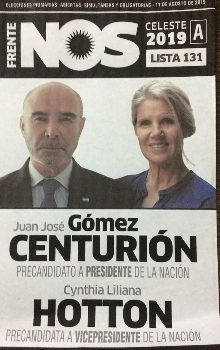 Juan José Gómez Centurión y Cynthia Hotton – Frente NOS