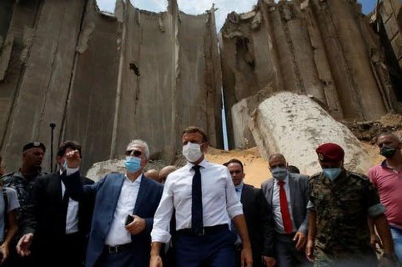 Macron prometió ayuda internacional para El Líbano (Thibault Camus/Pool via REUTERS)