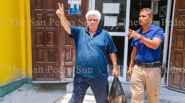 Cuando Samid fue detenido en Belice (The San Pedro Sun)