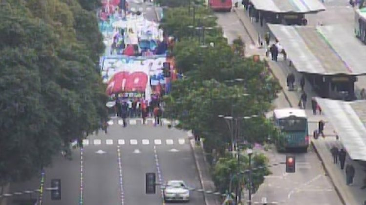 Desde el viernes hubo protestas por la presencia de Lagarde en el país