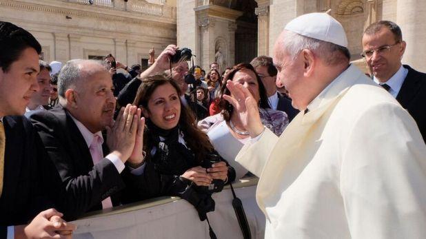 Giménez estuvo con el Papa (@luchogimenez7)