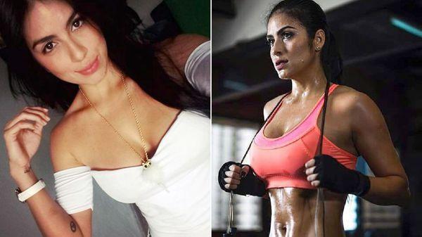 La colombiana dejó el modelaje para subirse al ring