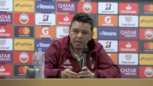 Gallardo habló en conferencia de prensa y refirió al presente que vive Gustavo Alfaro y sobre su continuidad en River en 2020 (Télam)