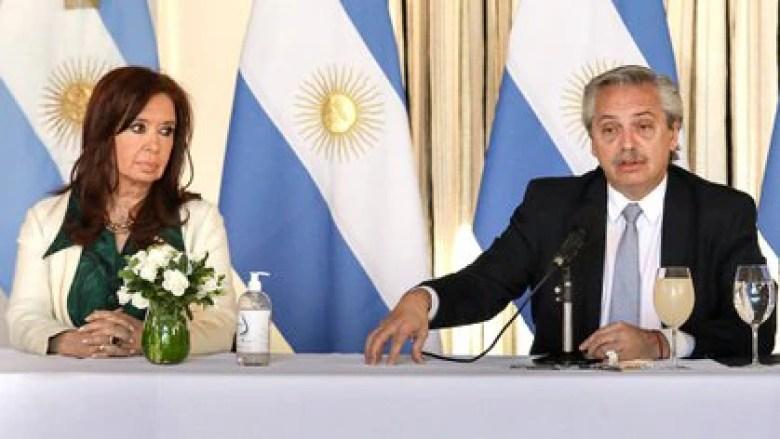 Cristina Kirchner y Alberto Fernández (Crédito: Esteban Collazo)