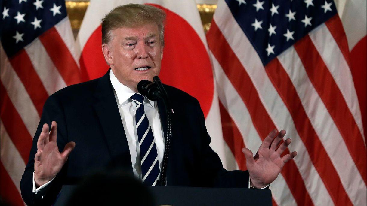 Donald Trump, durante su gira por Japón el pasado mes de mayo (AP Photo/Evan Vucci)