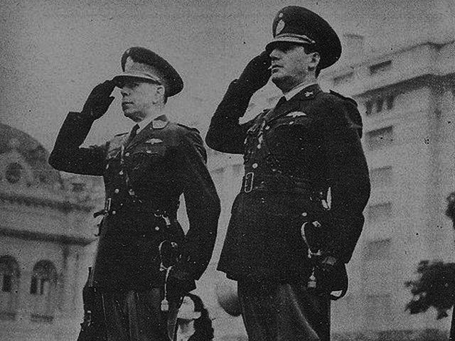 Edelmiro Farrell y Juan Domingo Perón