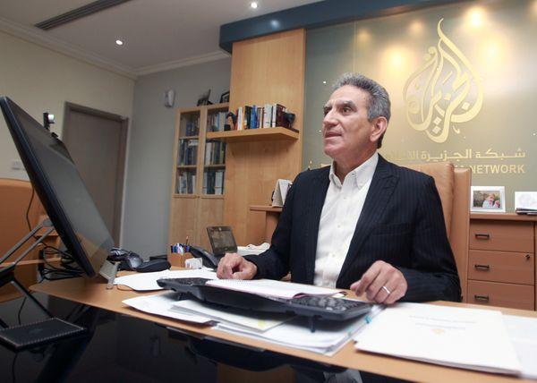 El director de Al Jazeera,Mostefa Souag, durante una entrevista(Reuters)