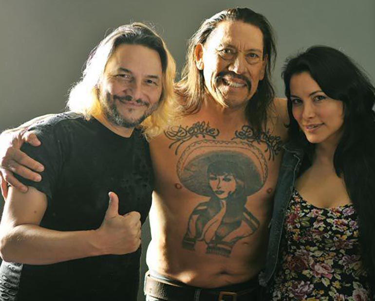 José Cicala, Danny Trejo y Griselda Sánchez (Instagram)
