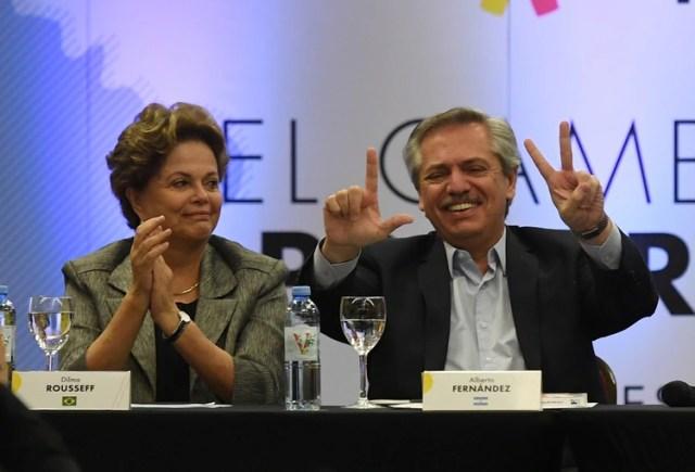 Dilma Rousseff y Alberto Fernández