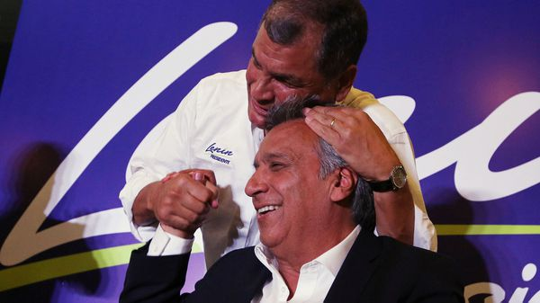 Rafael Correa se puso al hombro la campaña de Lenín Moreno (Reuters)