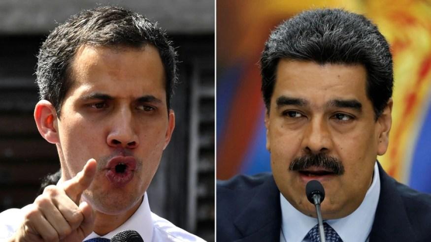 Juan Guaidó y Nicolás Maduro.