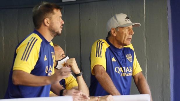Miguel Russo, Mariano Herrón y Leandro Somoza