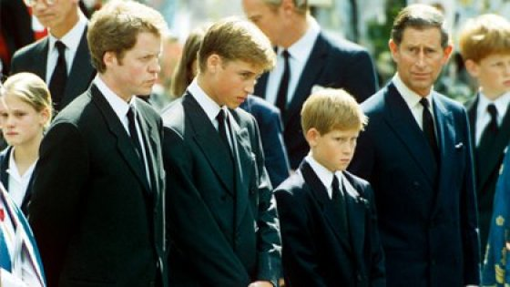 Charles Spencer, William and Harry's Principles with Lady Di's Funeral and September 1997 (Shutterstock)