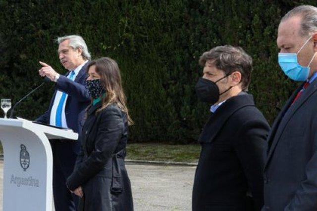 El Presidente encabezó el lanzamiento del plan junto a Sabina Frederic, Axel Kicillof y Sergio Berni, entre otros funcionarios