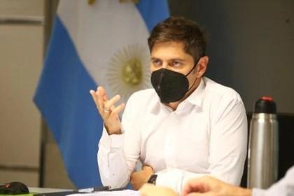 Axel Kicillof, al exponer en una reunión virtual con intendentes de la provincia de Buenos Aires. Presionó para endurecer las medidas