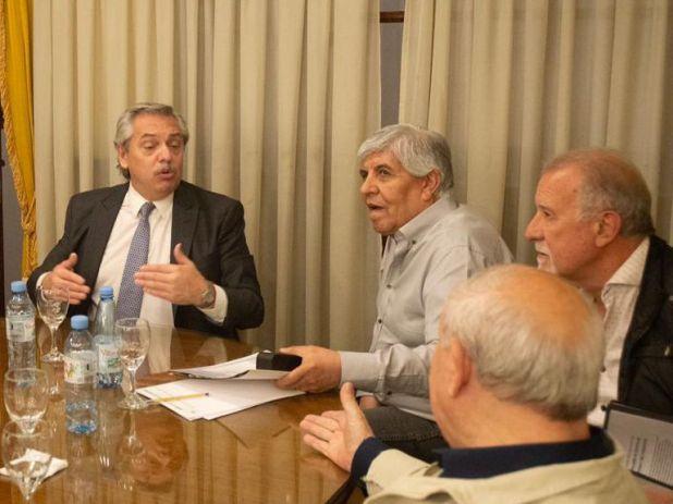 Aunque Moyano se muestre cercano a Alberto Fernández en la CGT desconfían de sus actitudes.