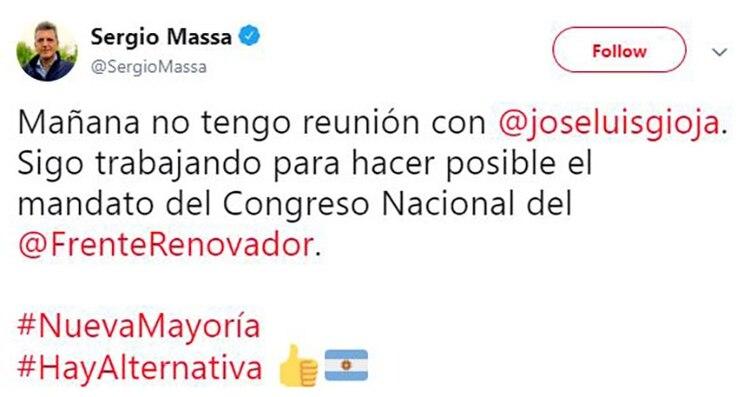 La desmentida a la reunión con el presidente del PJ Nacional, José Luis Gioja