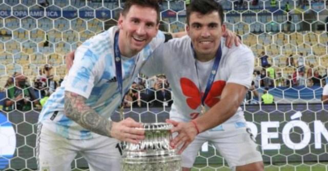 La conmovedora historia que se esconde detrás de la remera que usó Marcos  Acuña durante los festejos de la consagración en la Copa América - Infobae
