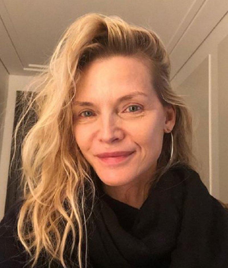 Otras de las fotos de Michelle Pfeiffer sin maquillaje