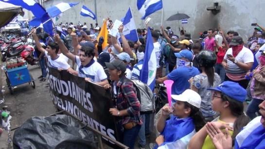 Decenas de estudiantes han sido detenidos por las fuerzas de seguridad nicaragüenses (AFP)