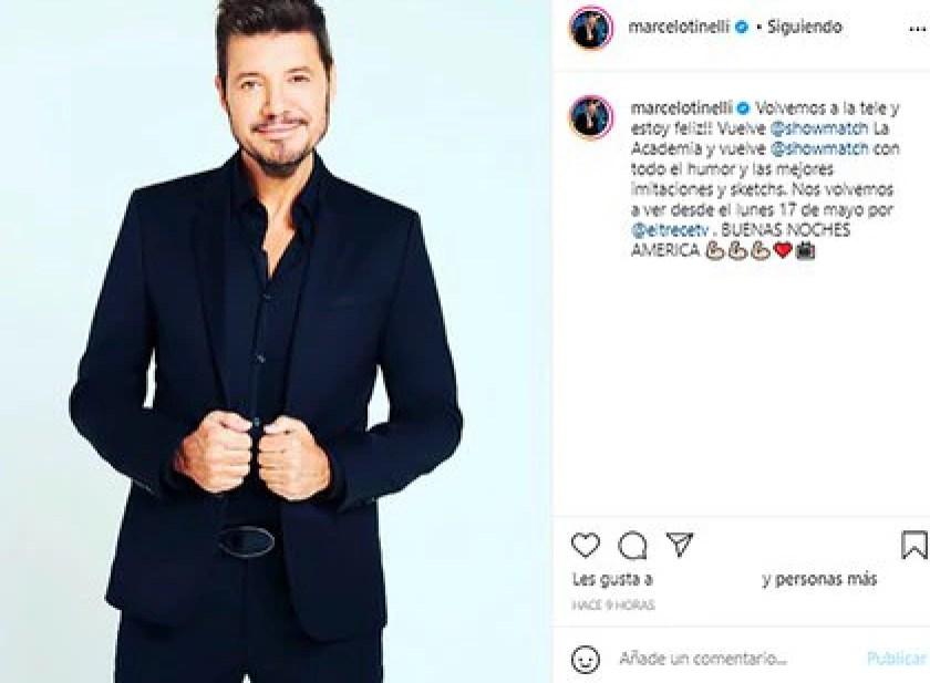 El posteo de Marcelo Tinelli con el anuncio de la vuelta de ShowMatch (Foto: Instagram @marcelotinelli)