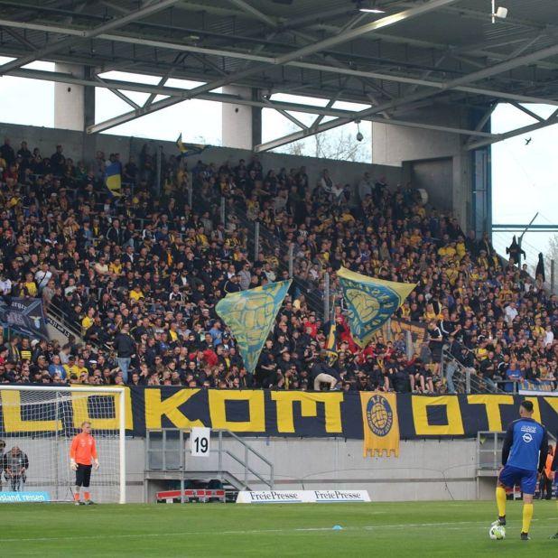 Los aficionados del Lokomotive Leipzig