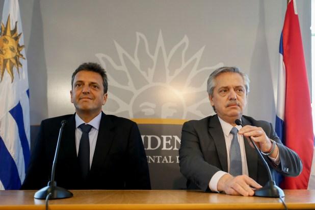 Alberto Fernández y Sergio Massa, socios políticos en el Frente de Todos