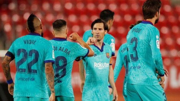 Lionel Messi - el Barcelona - Futbol - festejo - coronavirus