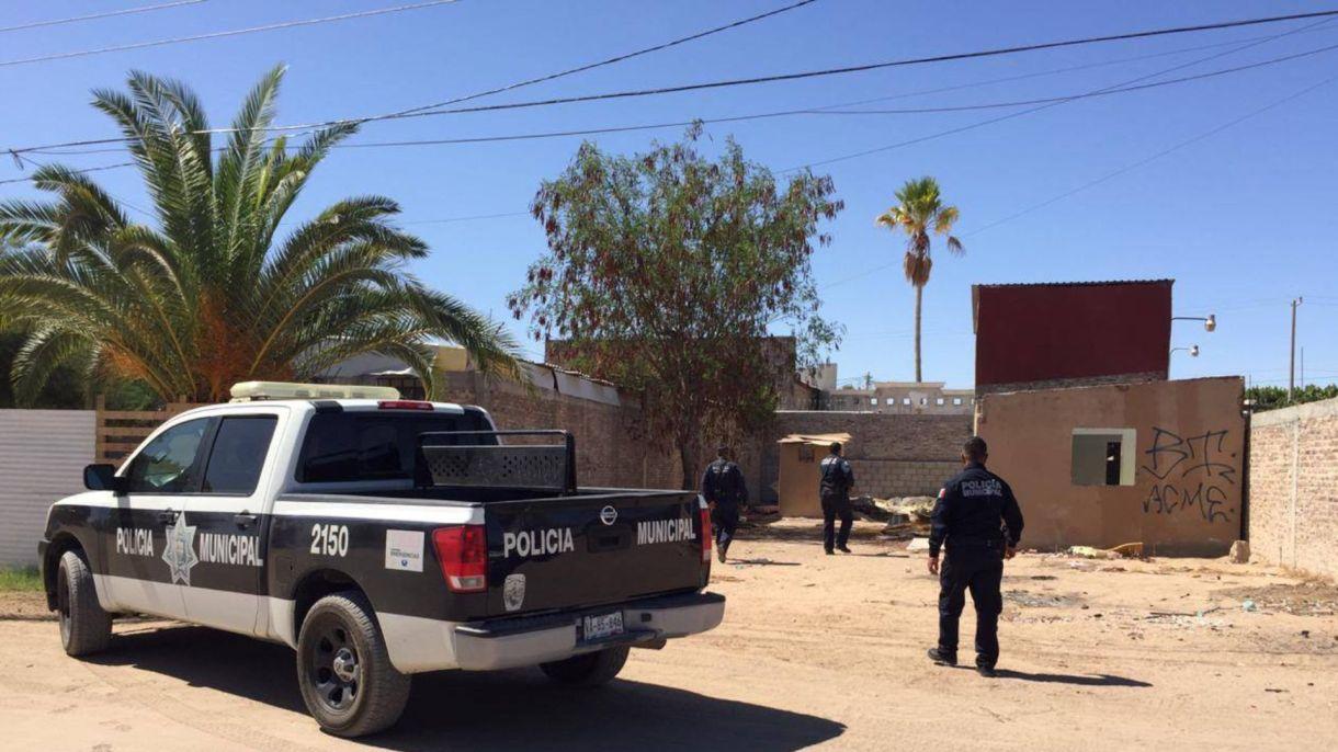 Elementos de la Policía Municipal de San Luis del Río Colorado, en Sonora, se enfrentaron con niños sicarios, quienes murieron en el cruce de fuego (Foto: Facebook Policía Municipal de San Lui RC)