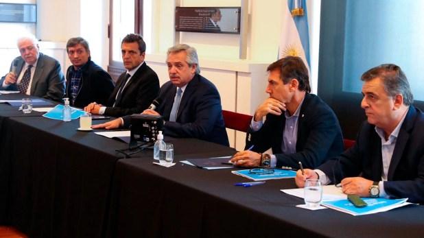 Alberto Fernández recibió a la oposición antes de declarar la cuarentena obligatoria (Presidencia)