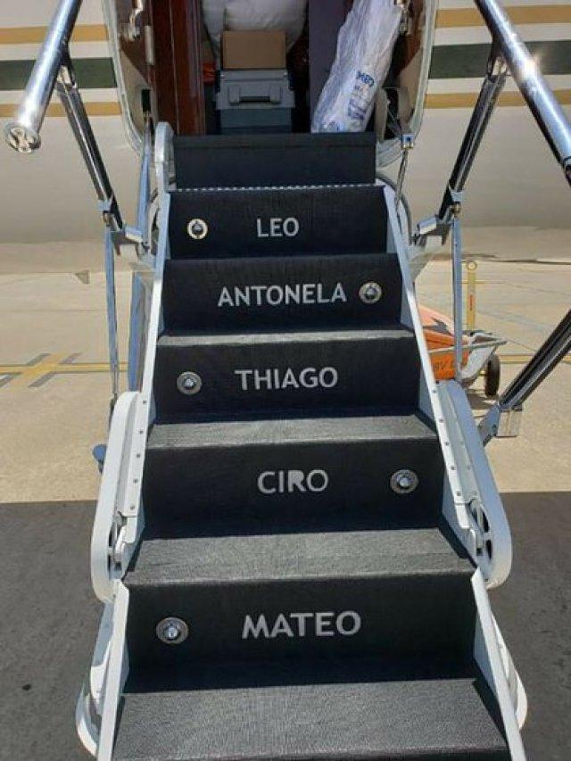 El Gulftream V, el avión privado de Lionel Messi