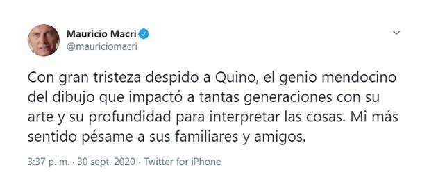 Mauricio Macri Quino