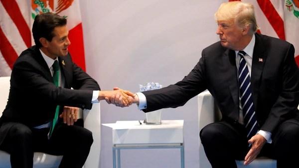 El presidente mexicano Enrique Peña Nieto y su par estadounidense Donald Trump (Reuters)